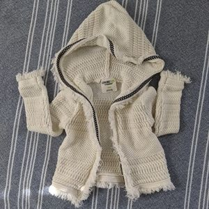 18m Knitted Open Sweater with Hood